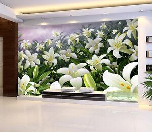 3d Lis Champ 14 Photo Papier Peint En Autocollant Murale Plafond Chambre Art