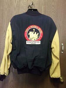 Details About John R Wooden Award Ncaa Nylon Button Up Jacket Rare Vintage Poty Jacket