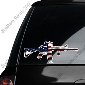 AR-15-Rifle-Gun-Firearm-With-Scope-American-Flag-Vinyl-Decal-Sticker
