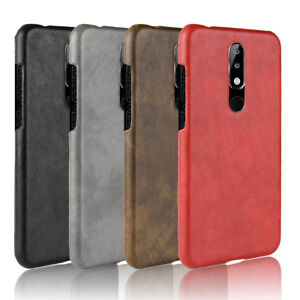 cheap for discount c75a2 6aa22 Details about For Nokia 6.1plus Nokia X6 Retro Leather Fabric Coated Hard  case cover