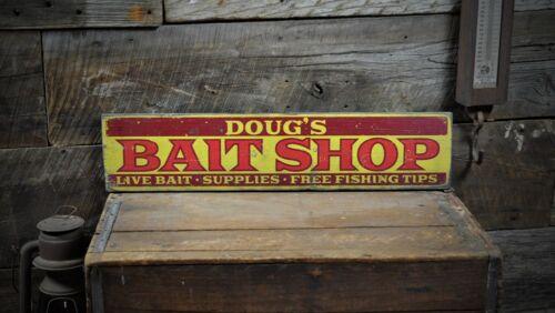 Custom Bait Shop Lake House Sign Rustic Hand Made Vintage Wooden ENS1001116