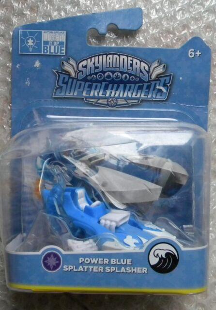 SKYLANDERS SUPERCHARGERS POWER BLUE SPLATTER SPASHER NEW SIGILLATO