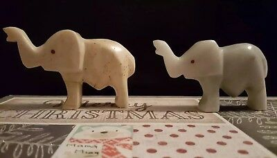 2 Elephantes Of Marble Made By Hand Special Buy