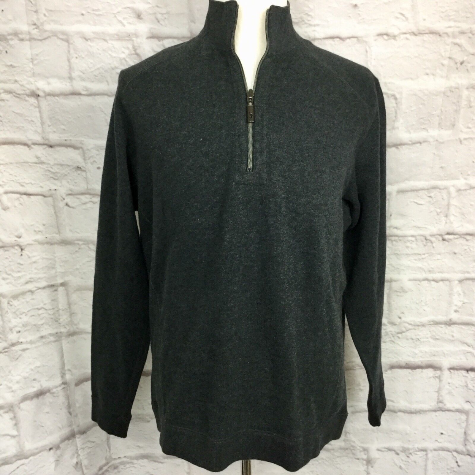 Tommy Bahama Men's M grau Cotton Pull-Over Sweater NWT