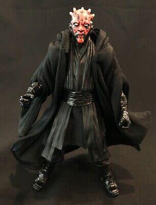 "PP-R-DM Black Wired Fabric Sith Cloak Robe for 6/"" Darth Maul No Figure"