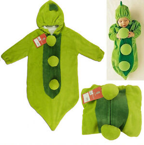 79f02d19f8350 Baby Sleeping Bag Grean PEA IN A POD boys girls fancy dress costume ...