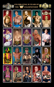 Fifty-Years-of-WWE-Championship-Wrestling-Poster-8x10-Andre-The-Giant-Bret-Hart