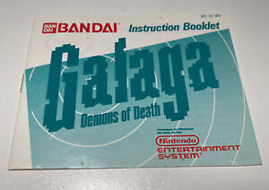 Galaga NES Nintendo Original Instruction Manual Booklet Only