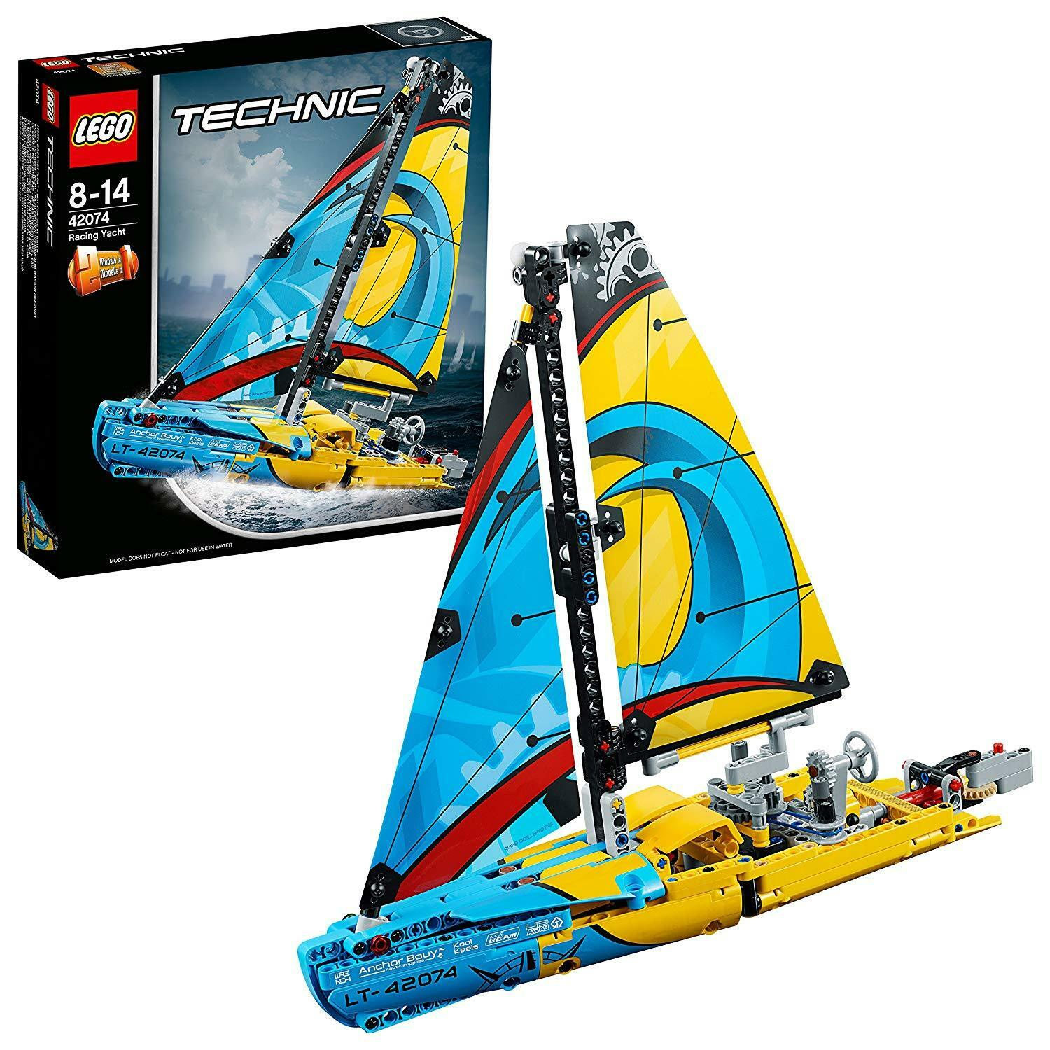 LEGO 42074 Technic Racing Yacht 2-IN-1 Model Boat And Catamaran Construction Toy