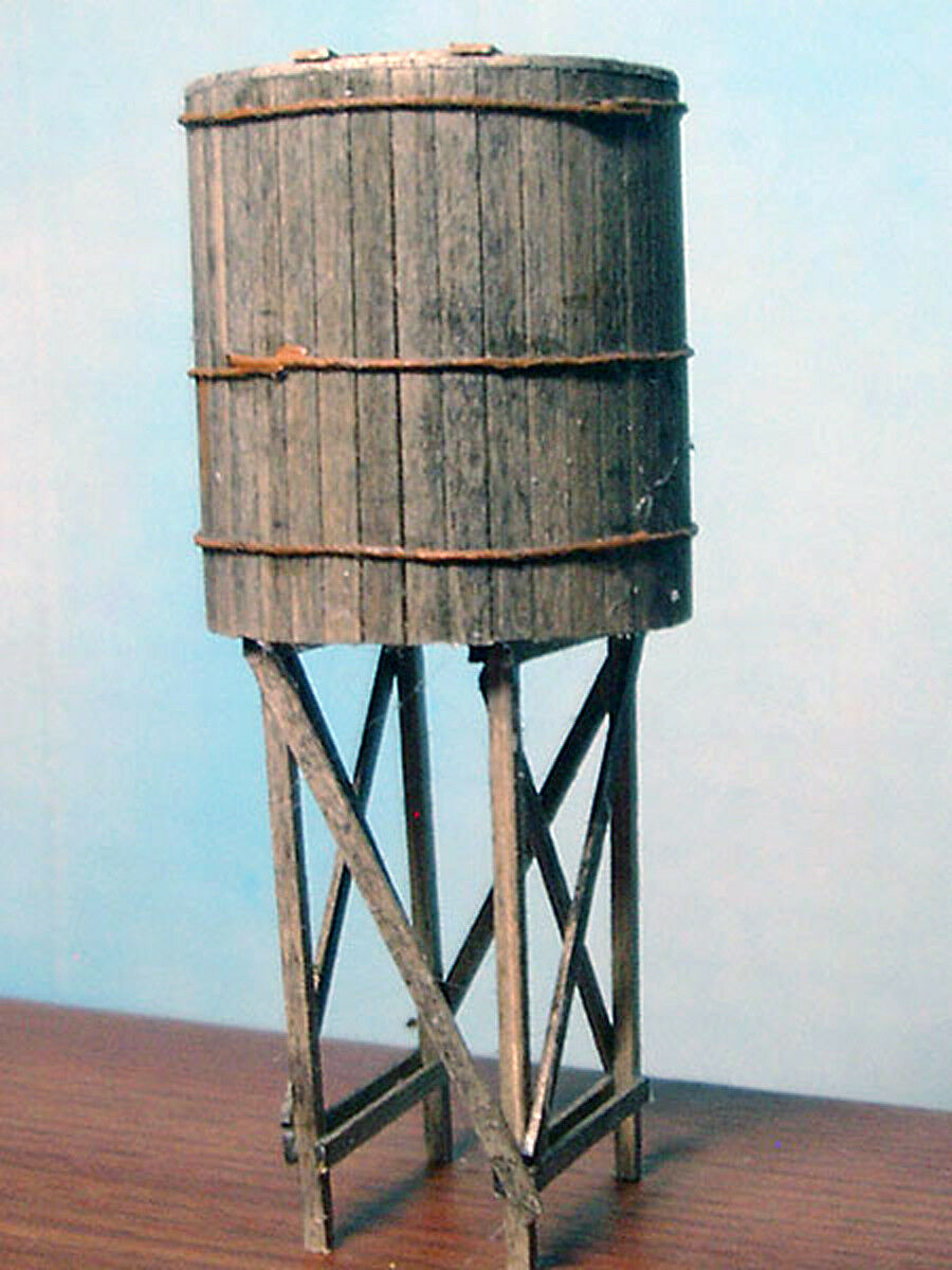 CLOSED TOP WATER TOWER O Scale Model Railroad Structure Laser Unpaintd Kit BR310