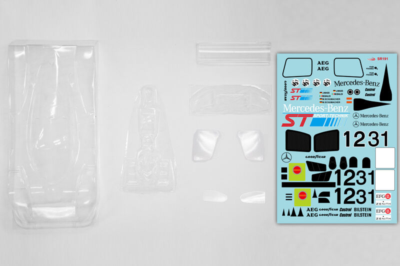1 10 1990 Mercedes Benz C11 Group C Racing RC Car Body with wings decal Tamiya