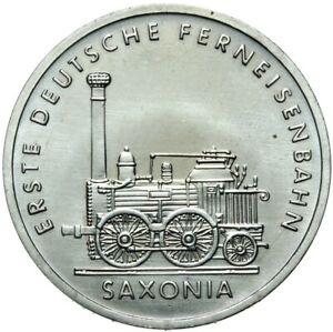 Gedenkmuenze-DDR-5-Mark-1988-A-Erste-Lokomotive-Saxonia-Stempelglanz-UNC
