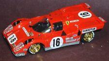 #16 Sandeman Ferarri 512M 1971 1/64th HO Scale Slot Car Decals