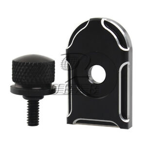 Details about Black Rear Fender Knurled Screw Bolt & Edge Cut Pad Mounting  Knob for Harley 96+