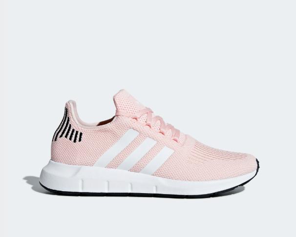 New Adidas Women's Originals Swift Run Shoes (B37681) Icey Pink White Black