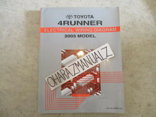 2003 Toyota 4runner 4 Runner Electrical Wiring Diagrams