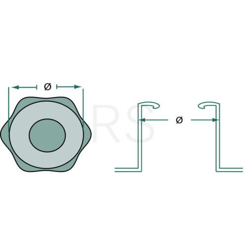 Tankdeckel Tankverschluss für Fiat 55-56 60-56 65-56 70-56 55-66 60-66 38007016