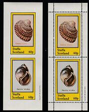 GB Locals - Staffa (125) 1981 SHELLS perf & imperf sheetlets  unmounted mint