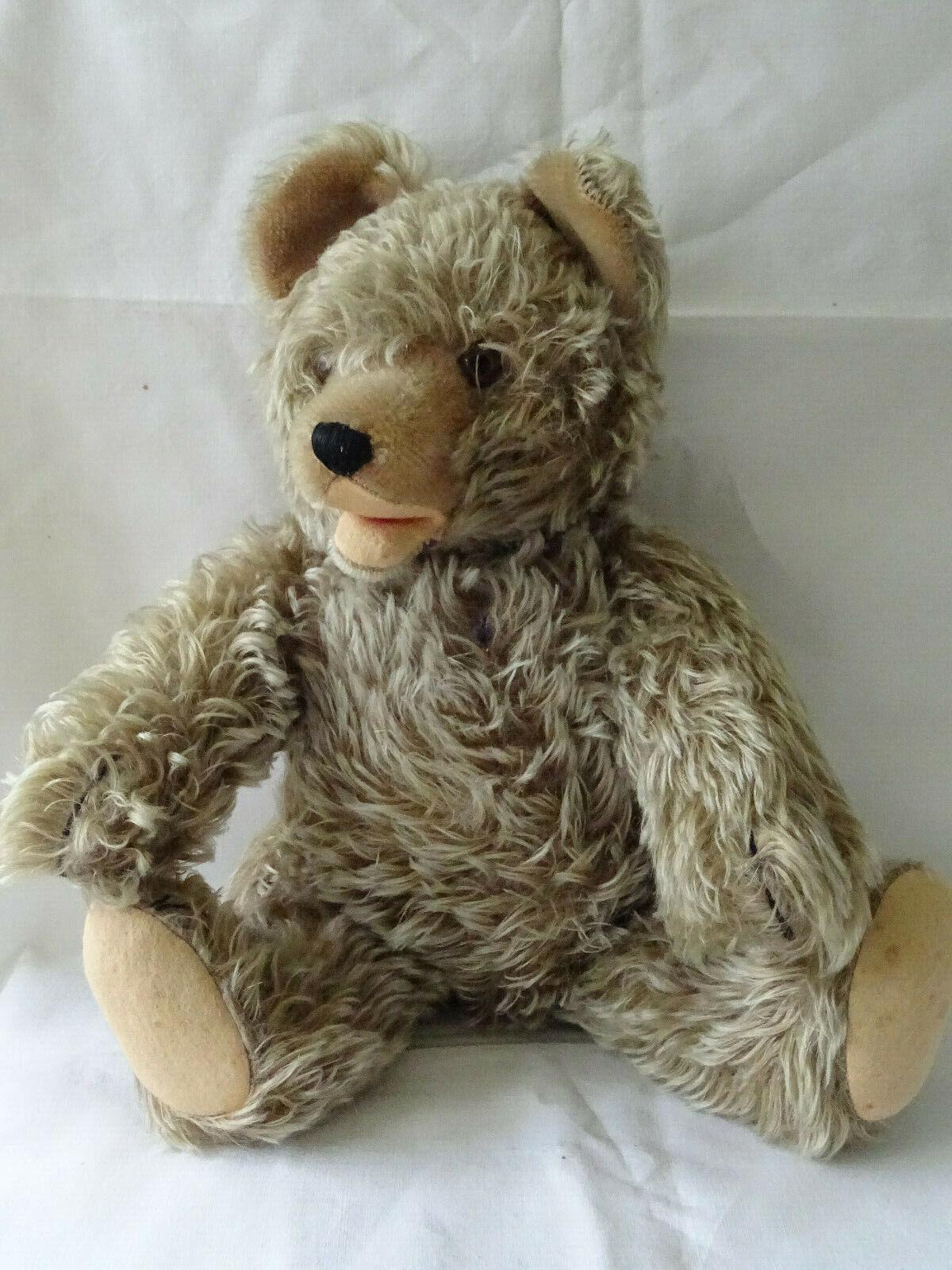 Alt Teddy Teddybär Hermann Stoffteddy  Stofftier Bär Baer Zotty  43cm 1950