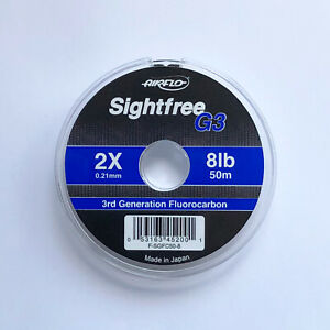 Airflo-Tippet-Leader-Sightfree-G3-Fly-Fishing-Fluorocarbon-50m-Various-Sizes
