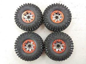 "RC4WD IROK Super Swamper 1.9"" Crawler Tires on 12mm Hex Beadlock Wheels Used"