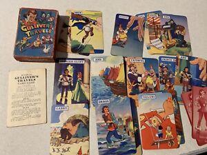 Vintage Jeu De Carte Gulliver's Travels Paramount 1939 Cartes à Jouer Avec Règles-afficher Le Titre D'origine