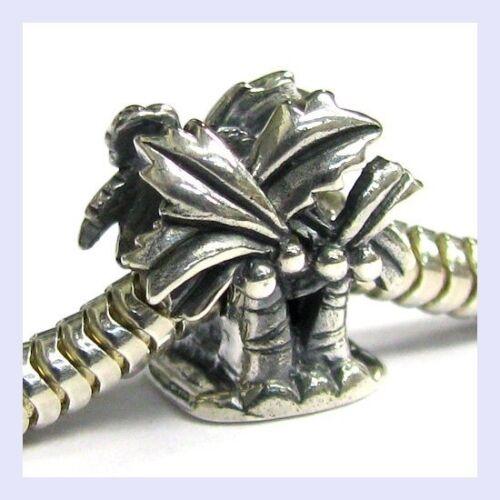Argent Sterling 925 Noix de Coco Palmier Hawaïen Bead for European Charm Bracelet