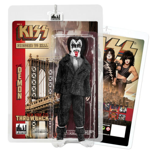 Set of all 4 KISS 8 Inch Action Figures Dressed To Kill Throwback Series
