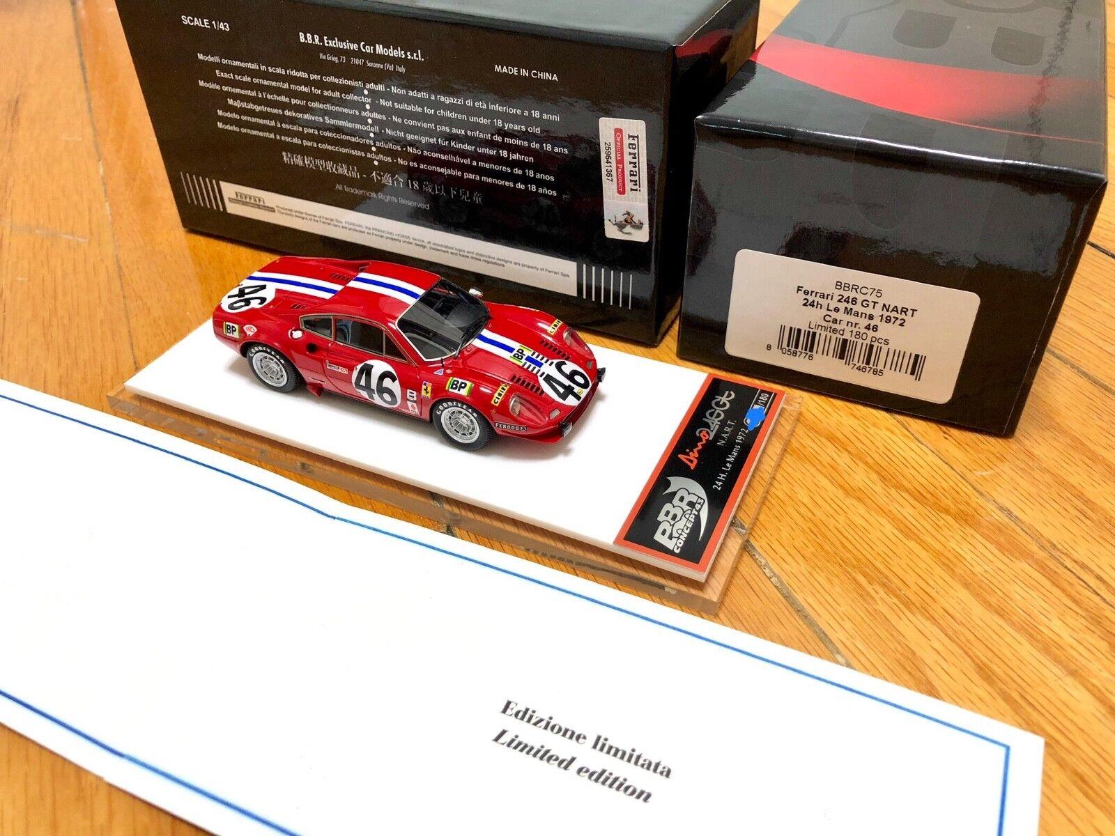 1  43 byggde BBR begränsad xxx  180 Ferrari 246 Dino GT Nkonst lemans 1972 och Tameo