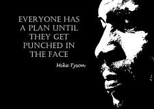 BOXING MIKE TYSON INSPIRATIONAL MOTIVATIONAL POSTER PRINT EVERYONE HAS PLAN