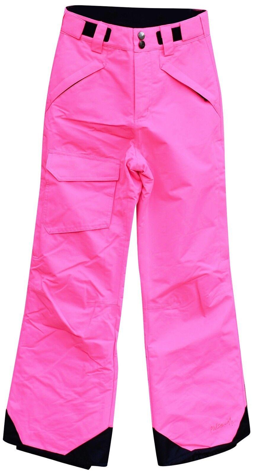New Pulse Girls Youth Snow Ski Snowboarding Pants S M L 7 8 10 12 14 16 Pink