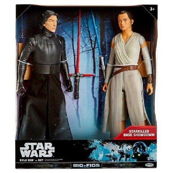 Star Wars Kylo Ren vs. Rey Action Figure 18   Starkiller Base Showdown Free Ship