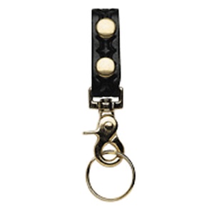 Boston Leather 5436-3-N Black BW Belt Keeper w//Deluxe Swivel Key Ring Combo