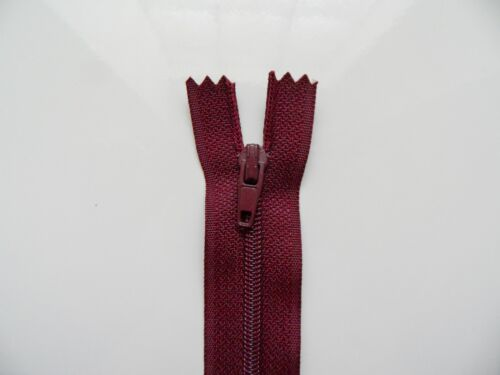 19 couleurs au choix 2 Fermetures éclair glissière zip nylon 20 cm
