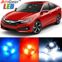 8 x Premium Xenon White LED Lights Interior Package Kit for Honda Civic + Tool