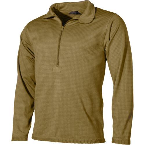 MFH US Undershirt Level II Gen III Base Layer Long Sleeve ECWCS Mens Coyote Tan