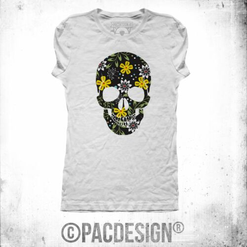 T-SHIRT WOMAN SKULL FLOWER VINTAGE INDIE COEXIST WHY SO VINTAGE NE0025A