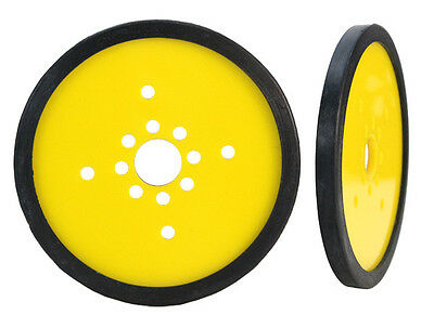 "Pair of 4"" Diameter Precision Disk Wheels - Yellow (595731)"