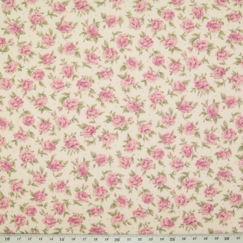 Rose /& Hubble Vintage Roses /& Ditsy Floral Material Metre FQ 100/% Cotton Fabric