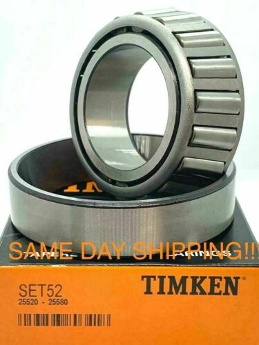 """TIMKEN MADE IN USA 25580//25520 1-3//4/"""" Tapered Roller Bearing Set A52"""