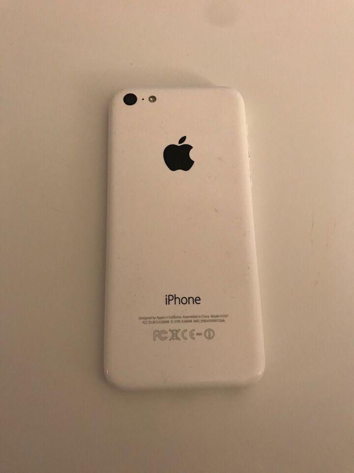 iPhone 5C, 16 GB, hvid