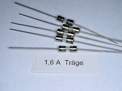 3,6 x 10mm 0,5A 250V axial 5 Stück Träge Picofuse Sicherung