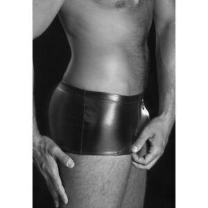 Boxer-sexy-laque-noir-aspect-cuir-modele-Stan-de-marque-Patrice-Catanzaro