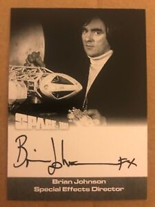 Unstoppable Thunderbirds Series 2 Autograph Card BRIAN JOHNSON SFX BJ1 BLACK