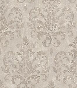 2 68 qm tapete lucera rasch 608526 tapete barock ornament betonoptik taupe ebay. Black Bedroom Furniture Sets. Home Design Ideas