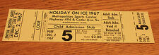 Vintage Ticket Stub - Holiday on Ice - Bloomington MN - Metropolitan SC - 1967