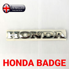 1x NEW Chrome Honda 3D Letter Badge, Logo, Sticker, Decal, Self-Adhesive, Car