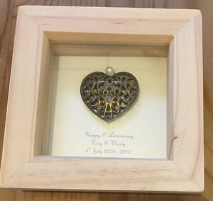 8th Bronze Wedding Anniversary Gift 19th Anniversary Present Personalised Framed
