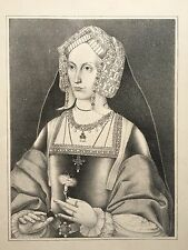 Anne Boleyn Print, after a painting from the Holbein Room at Strawberry Hill