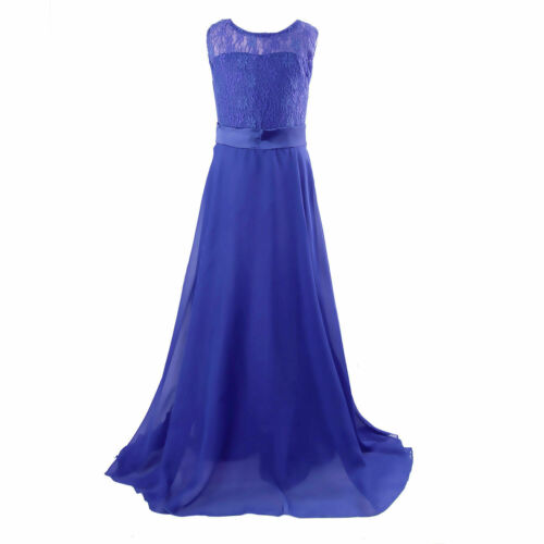Girls Long Maxi Dress Bridesmaid Wedding Party Pageant Prom Dresses For Age 6-14